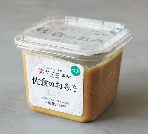 花こうじ 厳選された大粒白目大豆、国産塩を使用